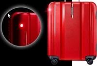 ライトが点滅するスーツケース.JPG